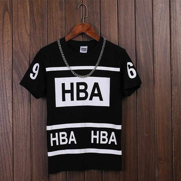 HOT men Hood by Air HBA 69 t shirt fashion Tee new skate clothing youth fitness casual Tshirt