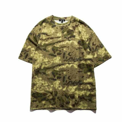 Men Camo Oversized Hip Hop Tshirt Tee Streetwear New Fashion Camo Men T-shirt 2017 Summer Loose Casual Tee Shirt