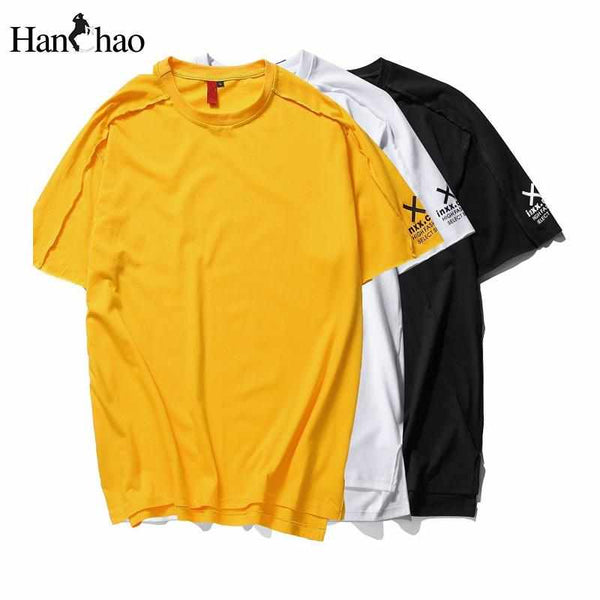 Men High Quality Letter Printed Casual T-Shirt Tee Streetwear Tee Shirts 3 Colors