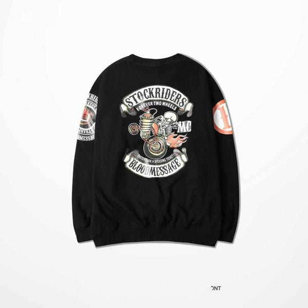Japanese Punk Skull Tattoo   Thrasher Vlone Kanye West Sweatshirt