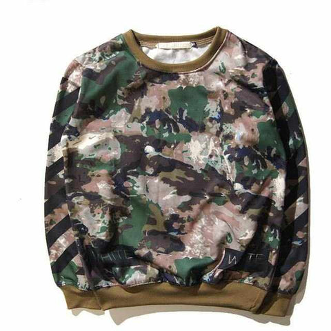 Men Camo   Thrasher Vlone Justin Bieber Kanye West Sweatshirt