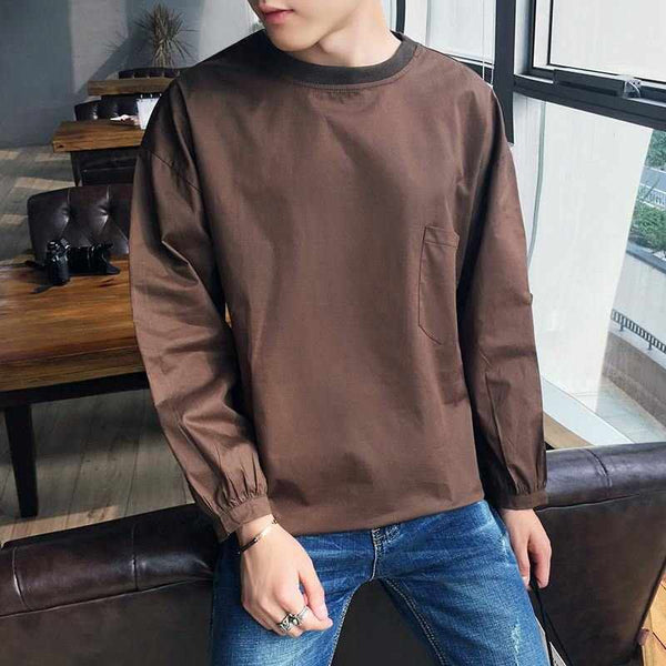 Men High Quality Long Sleeve T Shirt Plus Size Tee Shirt Kanye West 5XL-M