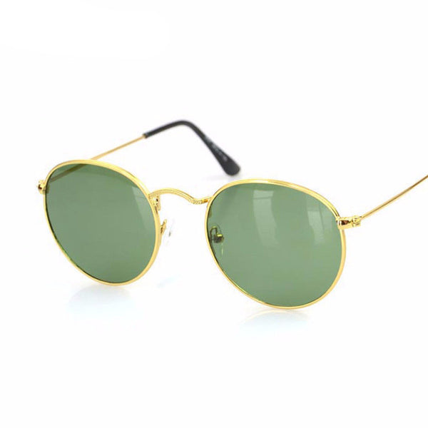 New Retro Round Alloy Frame Sunglasses