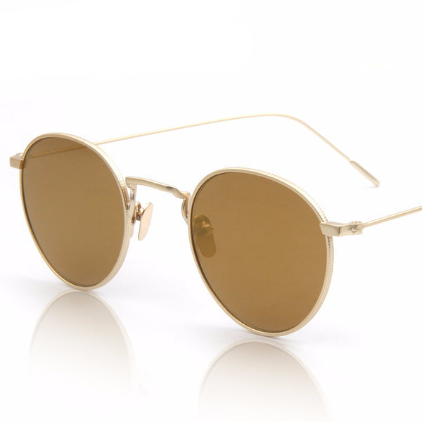 Retro Round Mirror Sunglasses