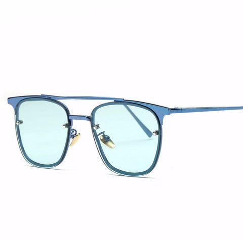 Retro Ocean Tint Lens Square Sunglasses