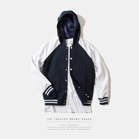 Men Hip-Hop Hooded Jacket