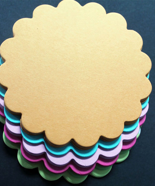 Scalloped Circles (Pack of 25)
