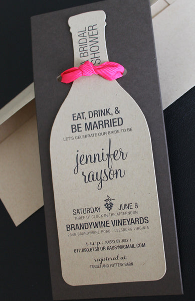 Wine Bridal Shower Invitation | Wine Party Invitation
