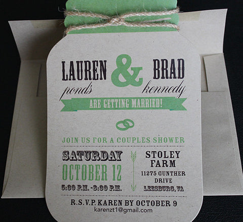 Mason Jar Invitation IV