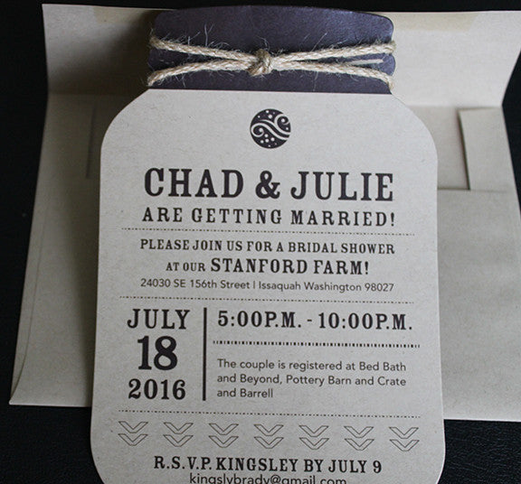 Mason Jar Invitation II