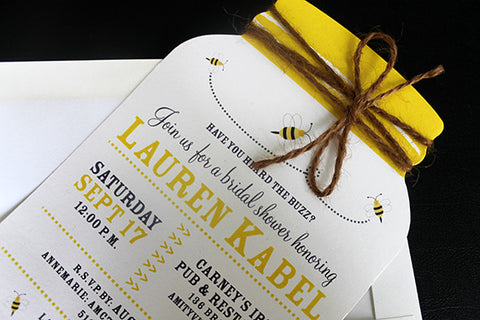Honeybee Mason Jar Invitation
