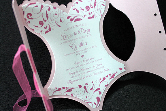 Pink Lingerie Party Invitation