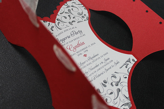 Red Lingerie Party Invitation