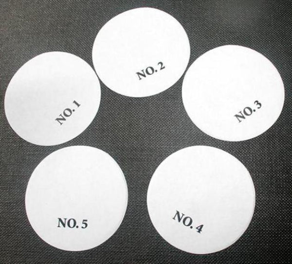 Paper Smears - 1' | Numbered Paper Smears | Paper Swipes | Numbered Paper Swipes | Specialty Circles 1'