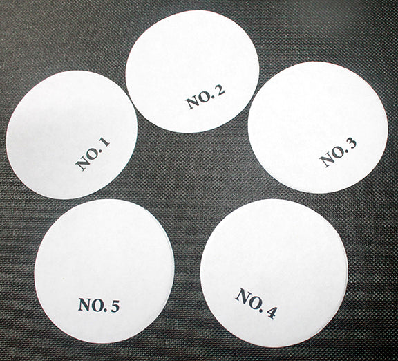 Paper Smears - 1 3/4' (10k) | Numbered Paper Smears | Paper Swipes | Numbered Paper Swipes | Specialty Circles 1 3/4 | Wholesale circles