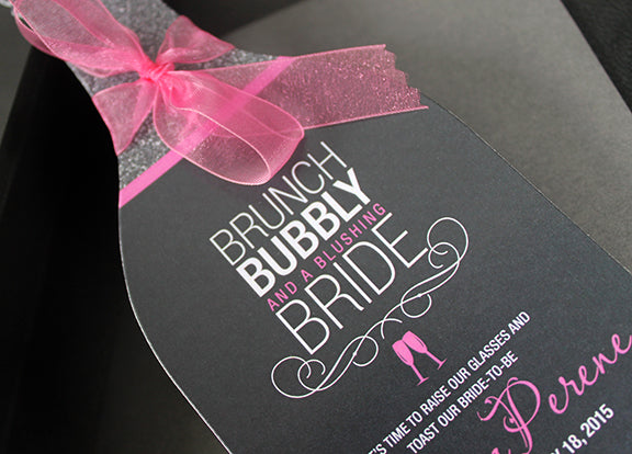 Wine Bridal Shower Invitation with Glasses