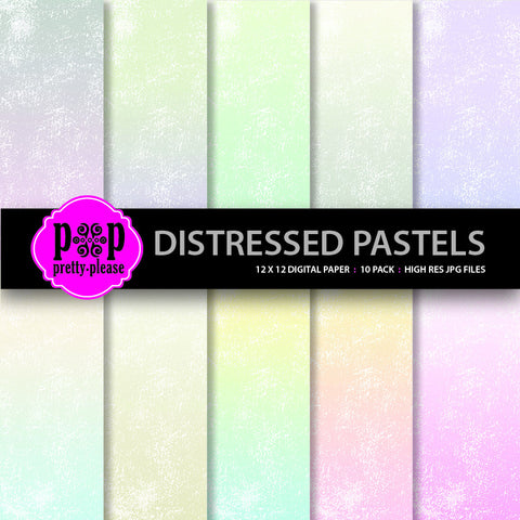 Distressed Pastels Digital Paper