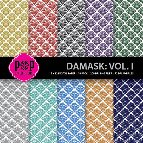 damask digital paper