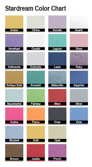 Stardream color chart