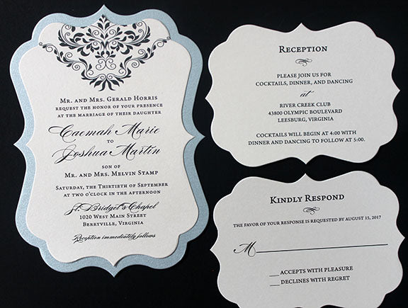 Bracket Card Wedding Invitation | Wedding Anniversary Invitation | Bracket Invitation