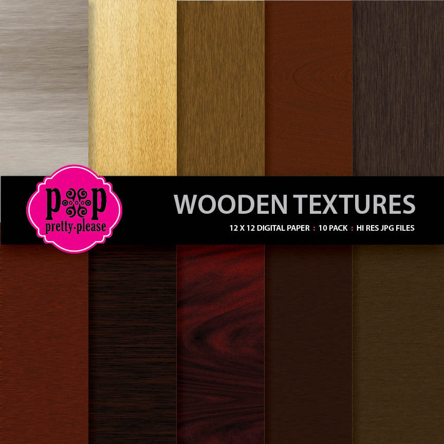 Wood Textures Digital Paper
