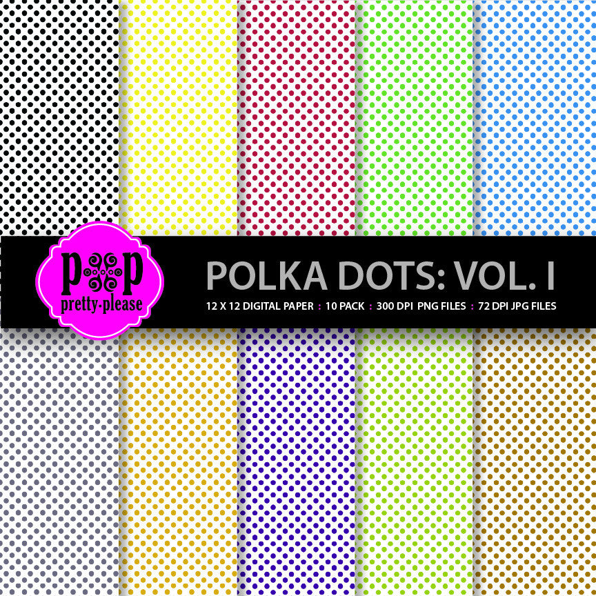 Polka Dots Digital Paper