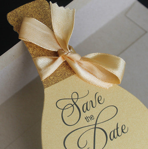 Wine bottle save the date