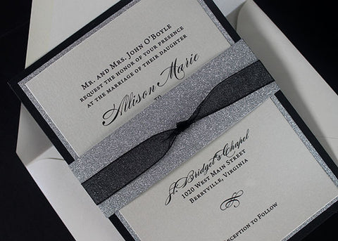 Wedding Invitation | Wedding Anniversary Invitation | Glitter Invitation