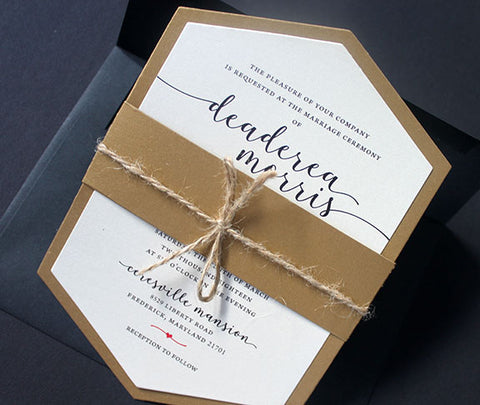 Wedding Invitation | Wedding Anniversary Invitation | Hexagon Shaped Invitation