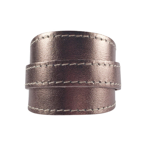 Platinum Metallic Leather Crop Cuff