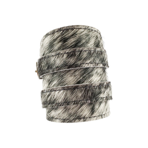 Salt & Pepper Cowhide Outcrop Cuff