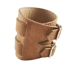 Vintage Light Tan Leather Outcrop Cuff