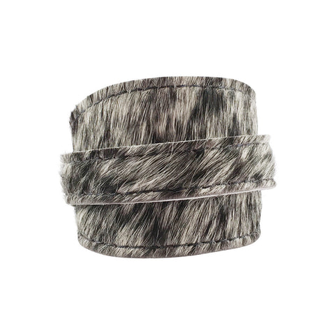 Salt & Pepper Cowhide Crop Cuff