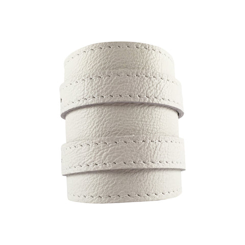 Skullbone White Leather Outcrop Cuff