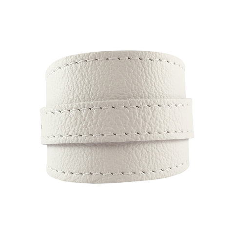 Skullbone White Leather Crop Cuff