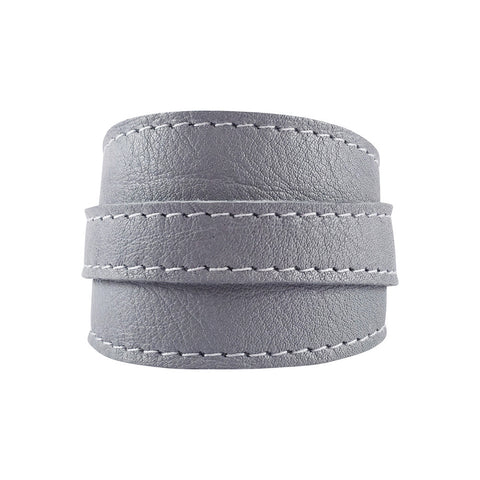 Lilac Grey Leather Crop Cuff