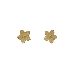 9 CT Gold 1950's Flower Studs