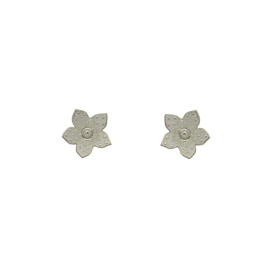 Sterling Silver 1950's Flower Studs