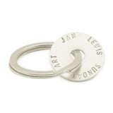 Sterling Silver Personalised  Keyring with 1 Disc