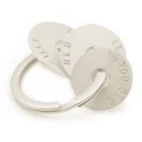 Sterling Silver Personalised  Keyring with 3 Discs