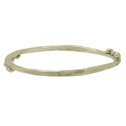 Sterling Silver Bangle with Balls