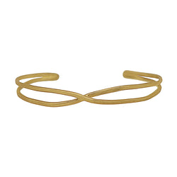 9 CT Gold Ribbon Open Cuff