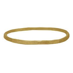 9 CT Gold Beaten Bangle