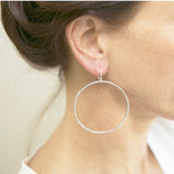 Sterling Silver Beaten Hoops