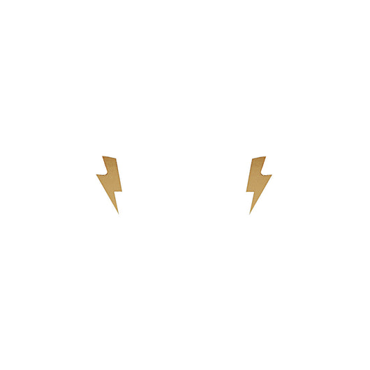 24 CT Plated Gold Bowie Studs
