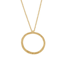9 CT Gold Circle Necklace