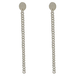 Sterling Silver Oval Curb Chain Studs