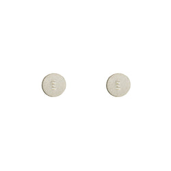 Sterling Silver Personalised Disc Stud Earrings