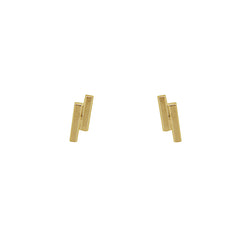 24 CT Plated Gold Double Stick Studs