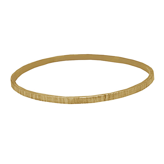 Etched Bangle (solid gold)